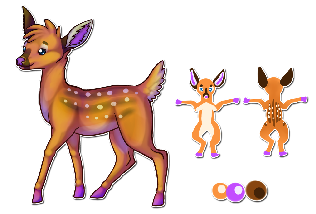 Design commission by bakamichi. Deer clipart roe deer