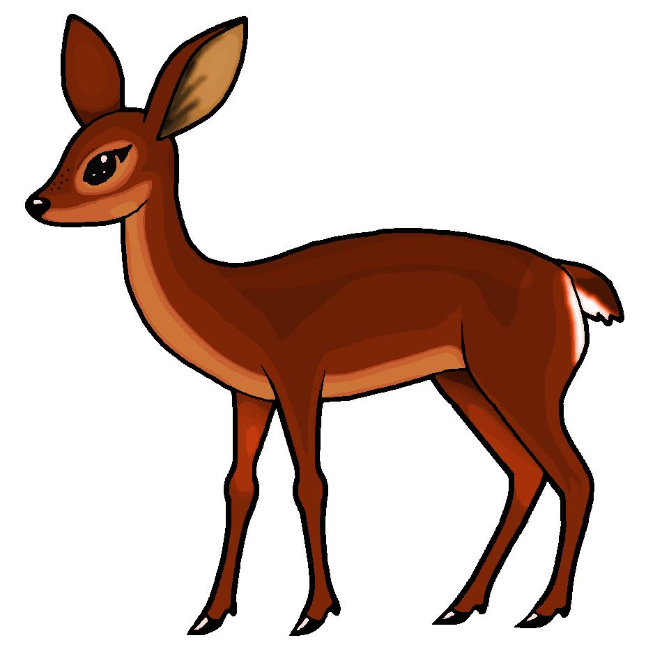 Deer clipart roe deer. White tailed clip art