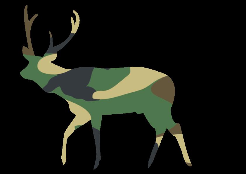 Materials thirty inches . Elk clipart sambar deer