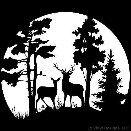 deer clip art. Hunting clipart landscape