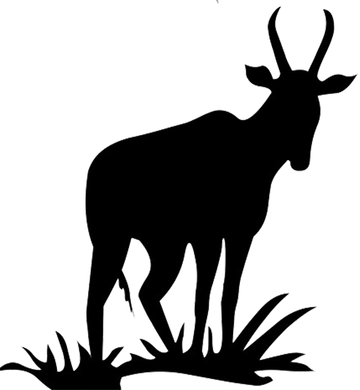 Animal silhouette clip art. Deer clipart shadow