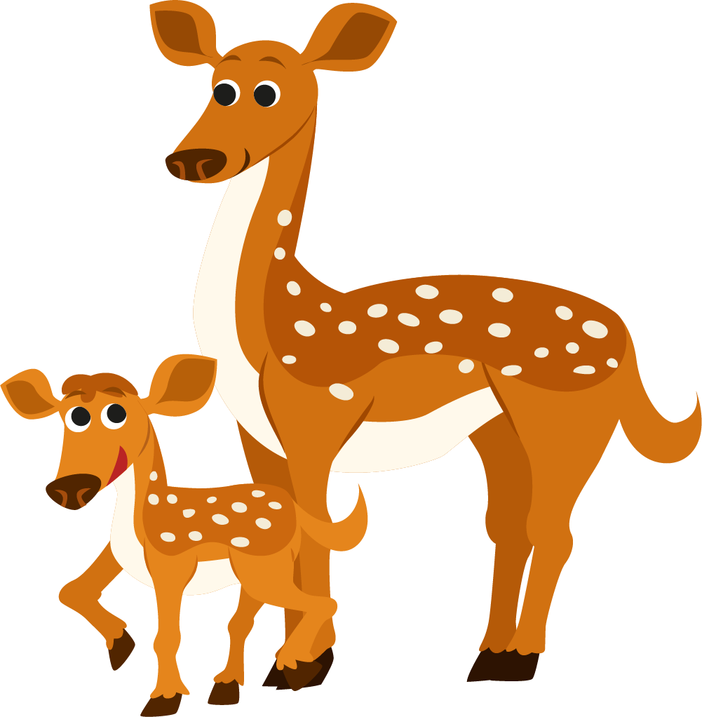 Dongeng anak android application. Deer clipart spotted deer