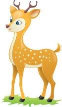 Stock vectors me . Deer clipart spotted deer
