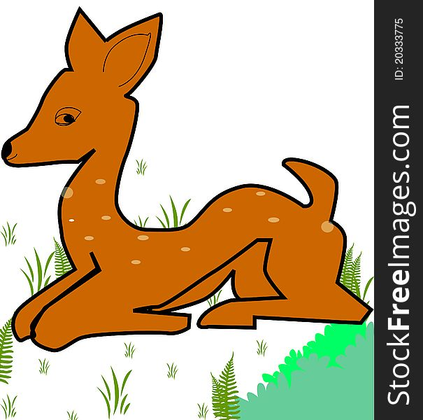Free stock images photos. Deer clipart spotted deer