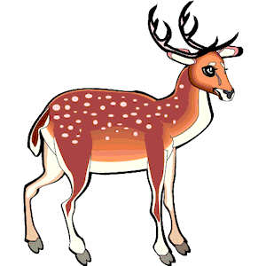 Deer clipart spotted deer. Red cliparts zone