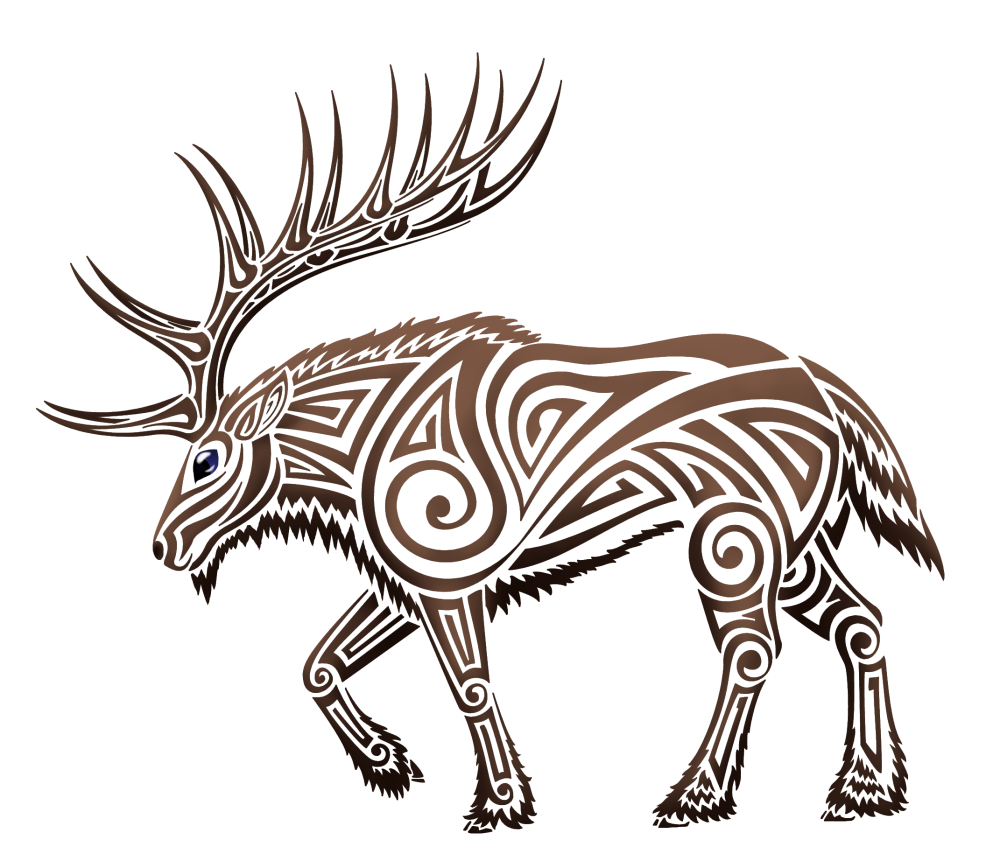 Elk by trahana nabyn. Hunting clipart tribal