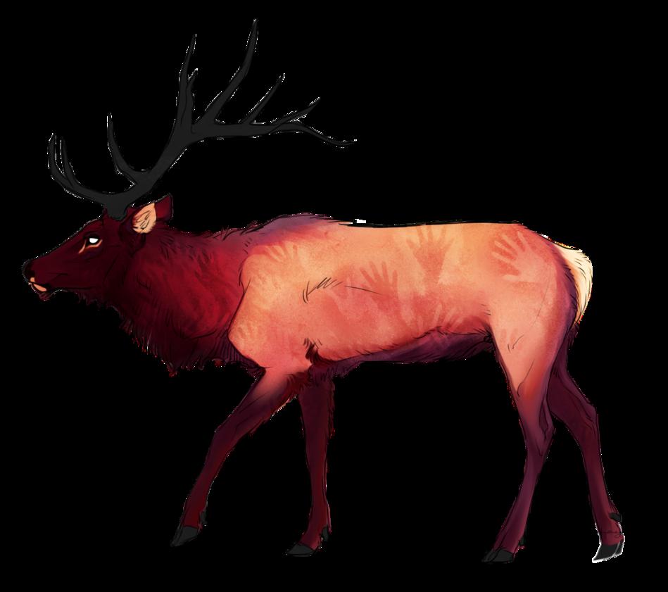 Deer clipart wapiti. Paleo by cro magna