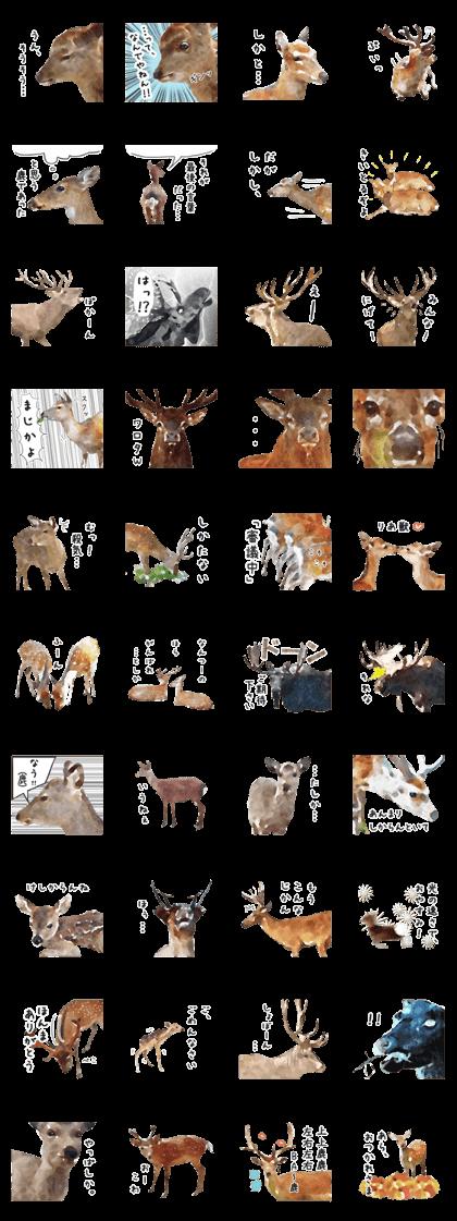 Deer clipart watercolor. Line creators stickers sticker