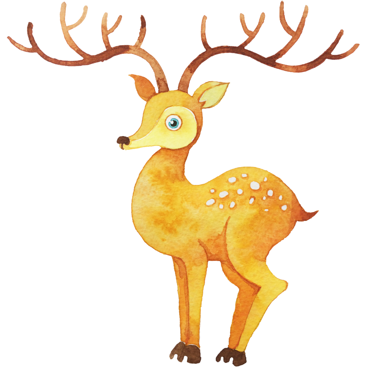 Deer clipart watercolor. Painting illustration