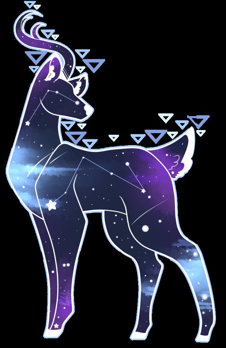 Digital space by kodaconstellation. Deer clipart watercolor
