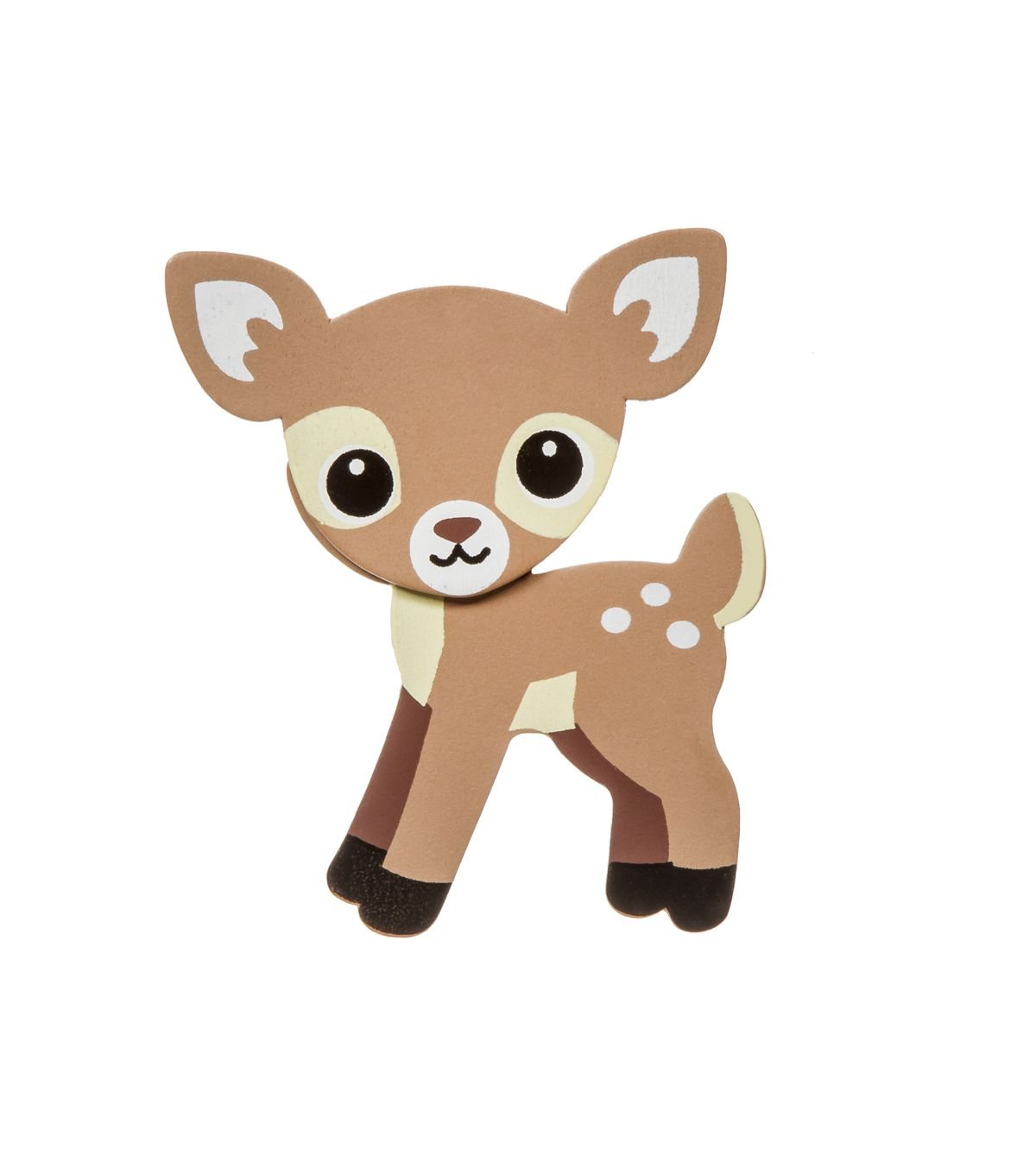 Painted wood shape deerwoodland. Woodland clipart woods animal