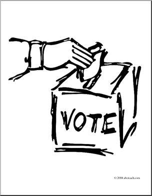 Clip art vote graphic. Democracy clipart