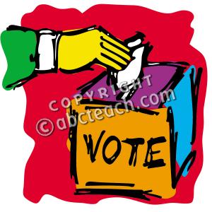 Democracy station. Voting clipart legislative leader