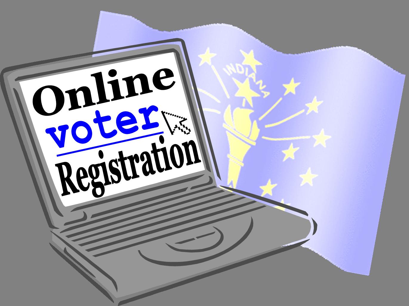 Sos online voter registration. Election clipart polling place