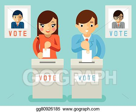Vector stock people vote. Voting clipart election candidate