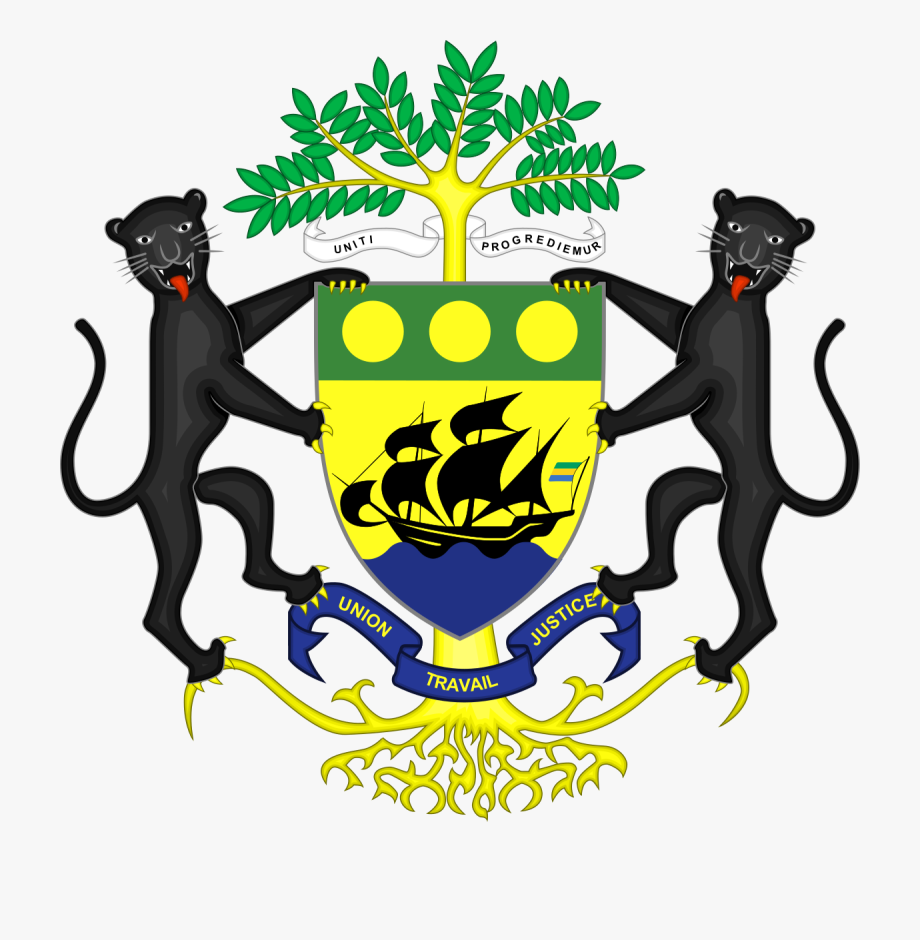 Democracy clipart bicameral legislature. Gabon coat of arms