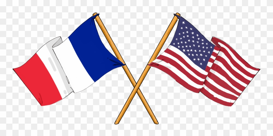 Democracy clipart culture american. France and us flags