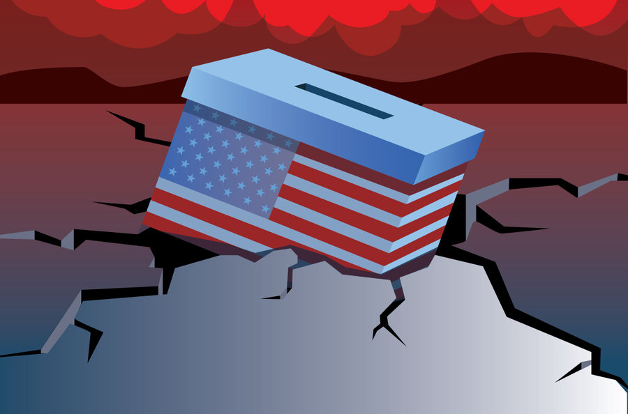 A system under strain. Democracy clipart culture american