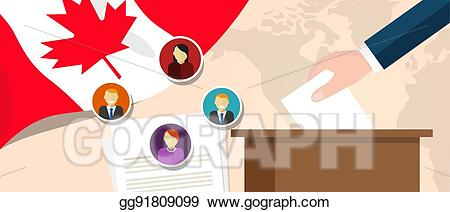 Vector canada democracy political. Politics clipart election canadian