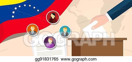Vector venezuela political process. Voting clipart parliamentary democracy
