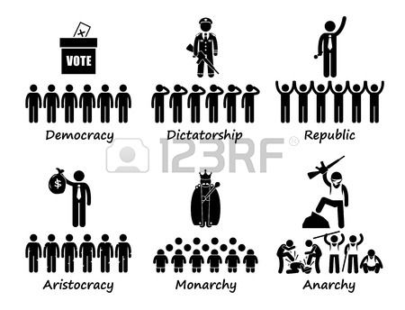 Stock vector political cartoons. Democracy clipart government structure