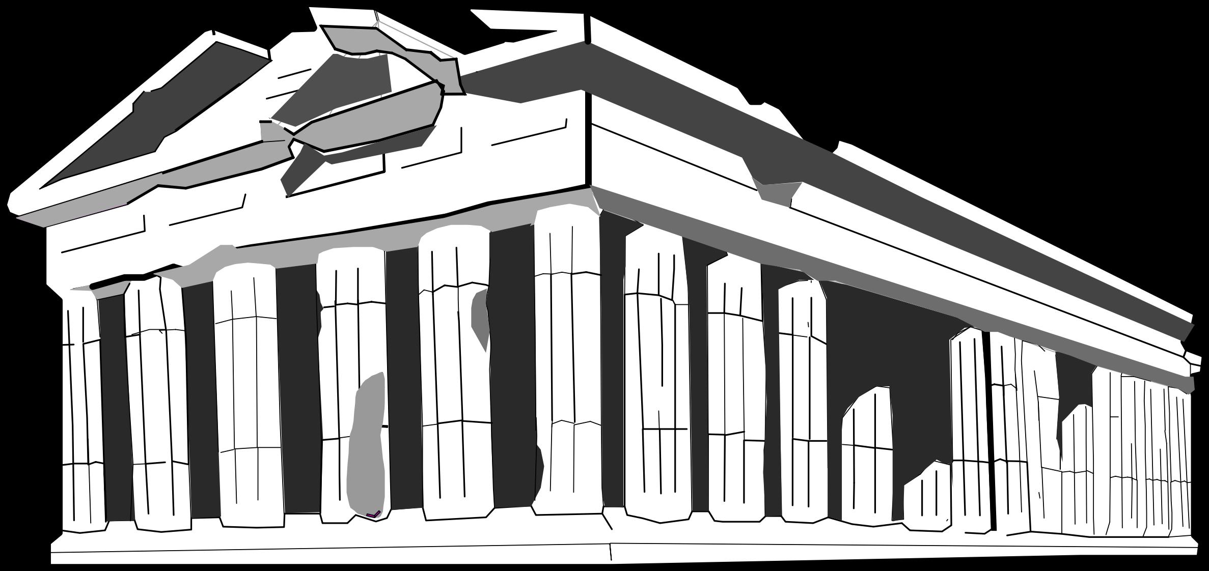 Parthenon big image png. Greek clipart silhouette