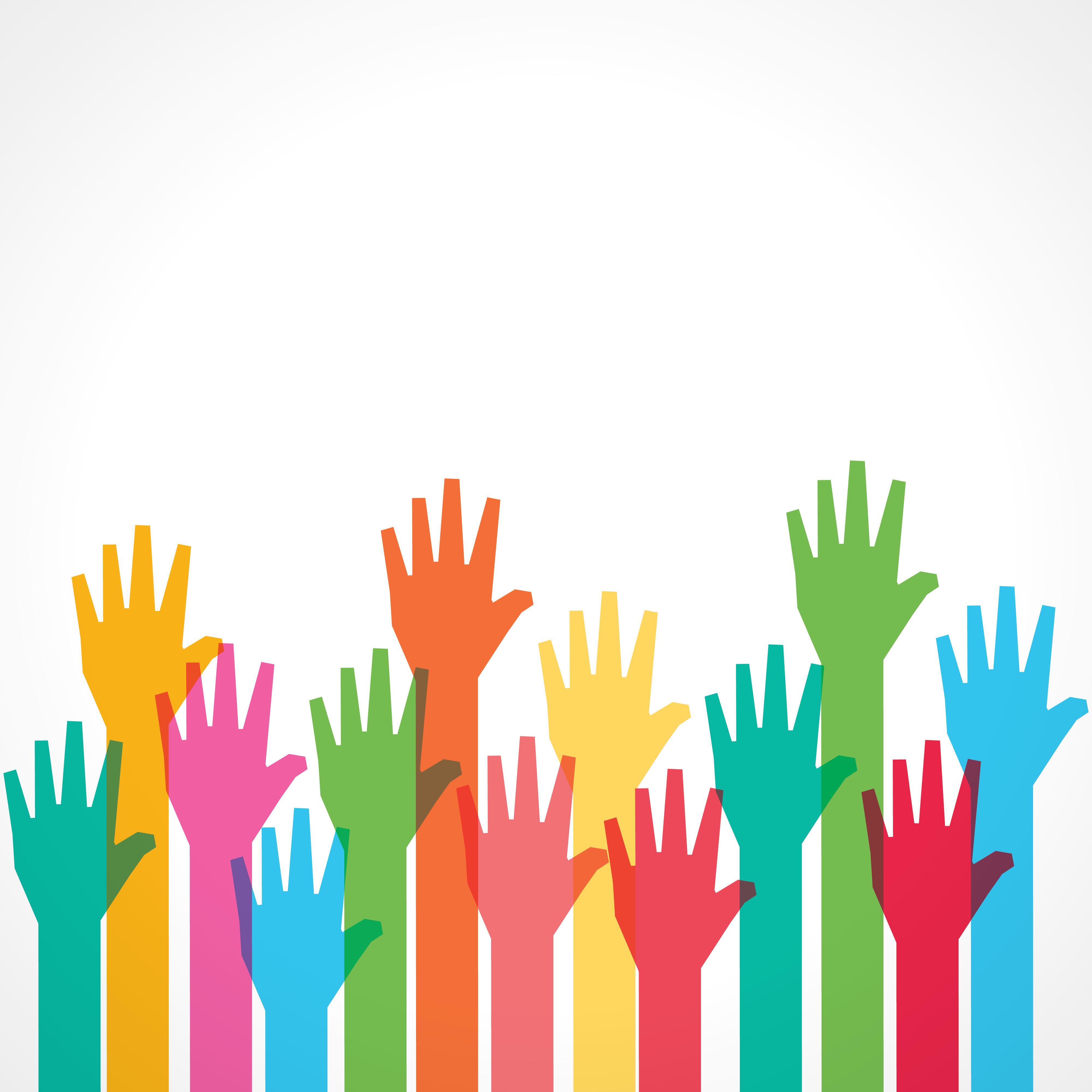 democracy clipart hand