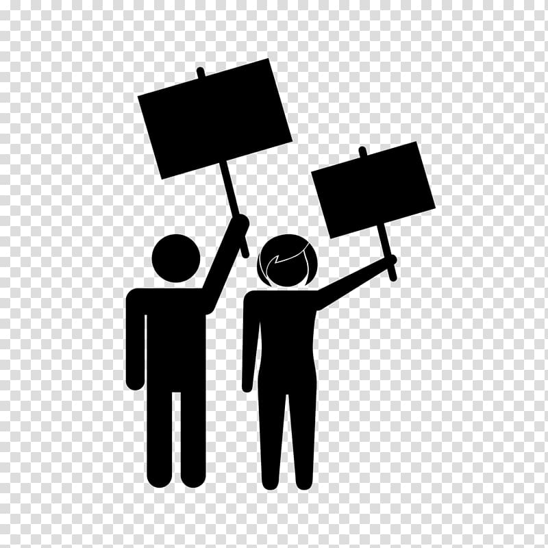Man and woman on. Democracy clipart illustration