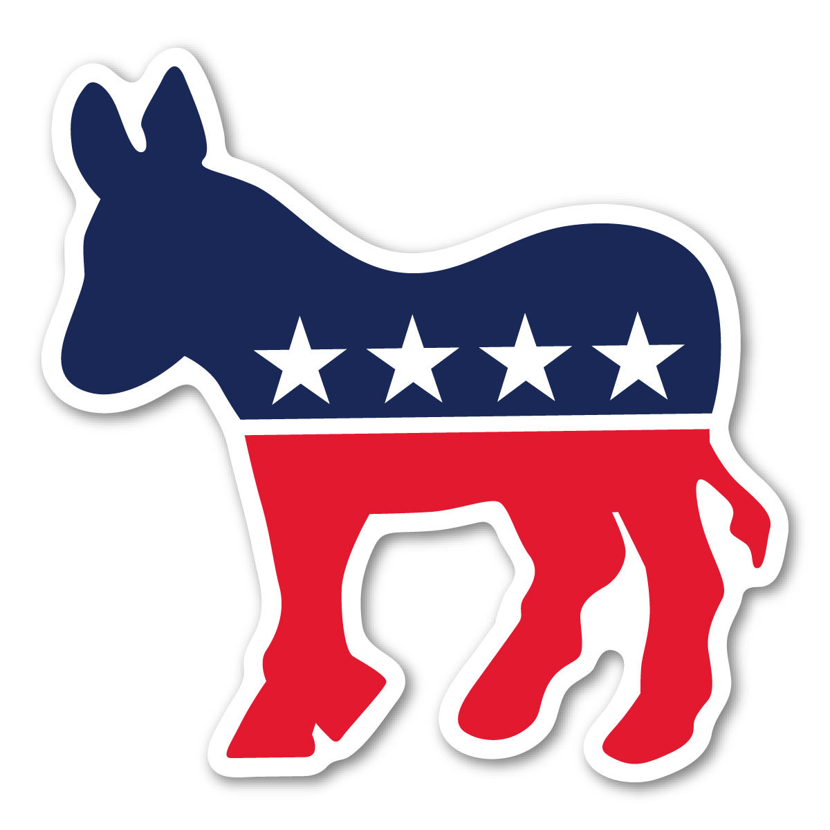 Democratic donkey decal . Democracy clipart political campaign