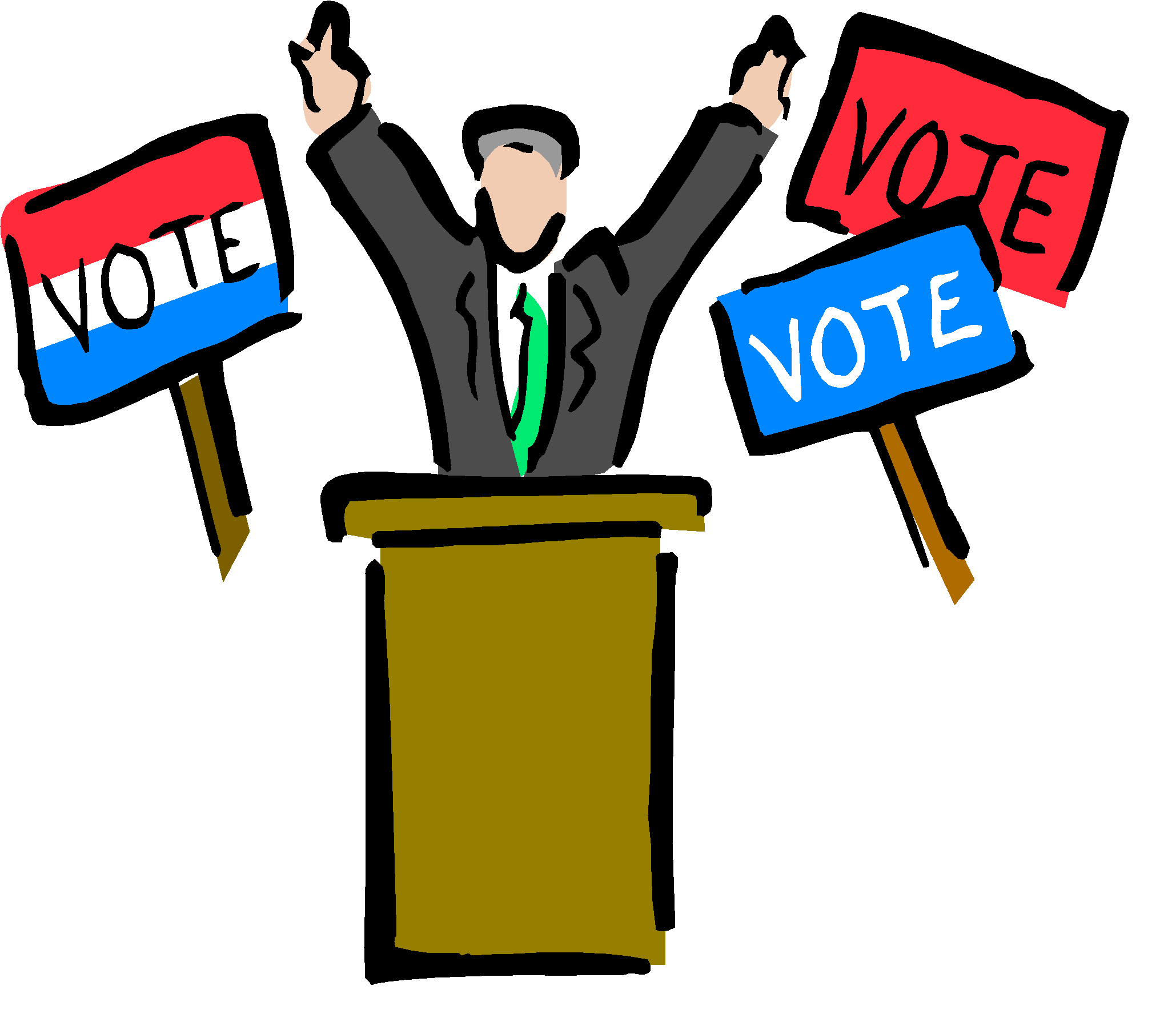 Voting clipart populism. Ce a and b