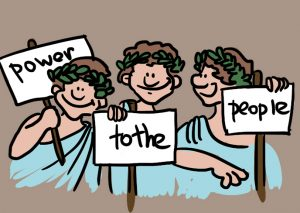 Democracy clipart power to person. Almost