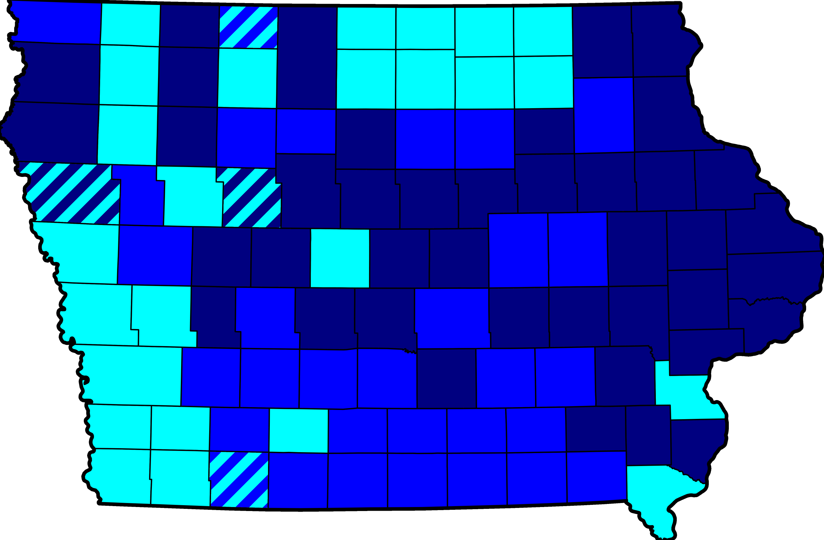Democracy clipart primary caucus. File map of results
