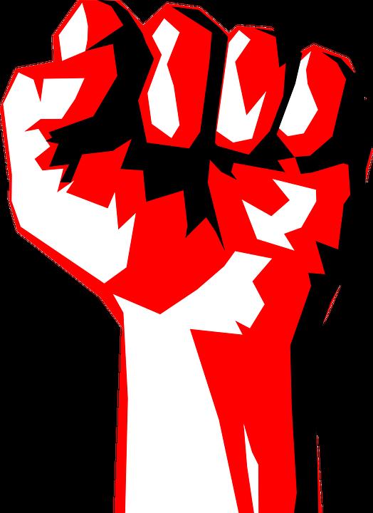 Democracy clipart revolution fist. Political collection
