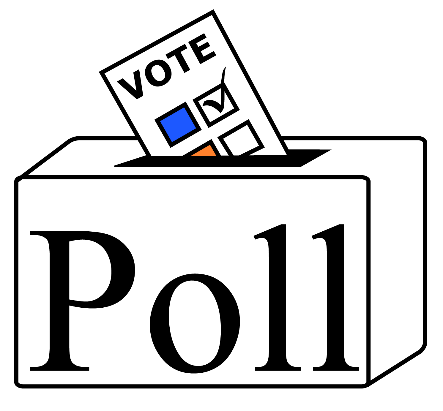 Your vote is secret. Voting clipart polling station