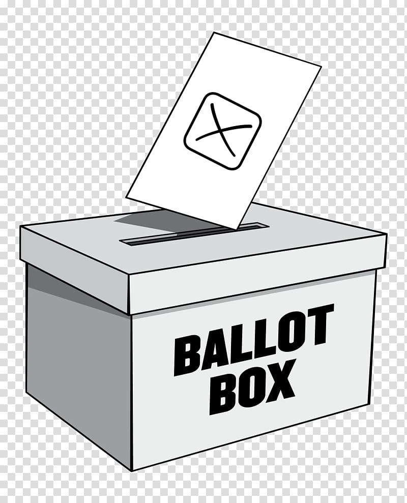 Ballot box title transparent. Voting clipart general election
