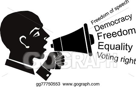 Democracy clipart voting right. Vector art political speech