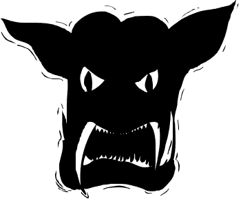 Free public domain halloween. Demon clipart