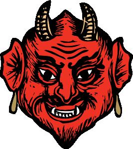 Demon clipart. Devil head clip art