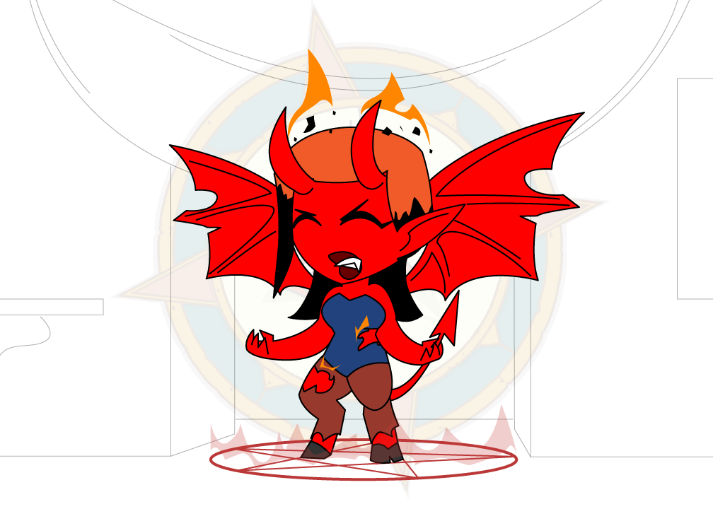 Wings demon free by. Wing clipart chibi