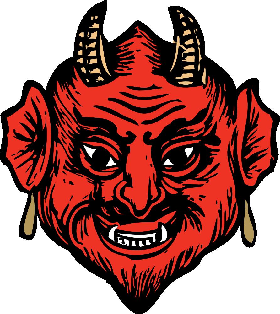 Devil clipart devil child. Onlinelabels clip art head