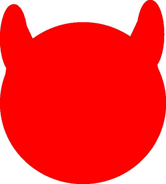 Horn clipart devel. Devil outline red clip