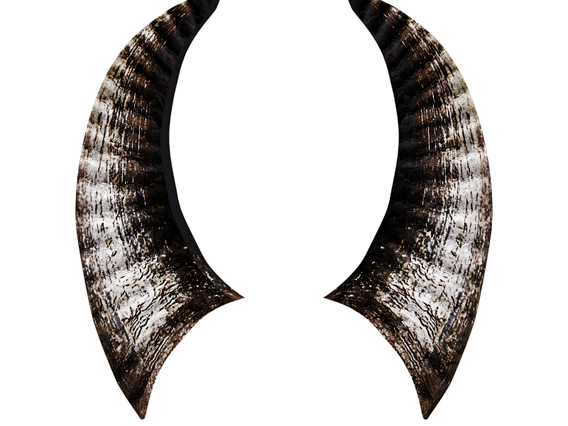 Horns png image isolated. Horn clipart real devil