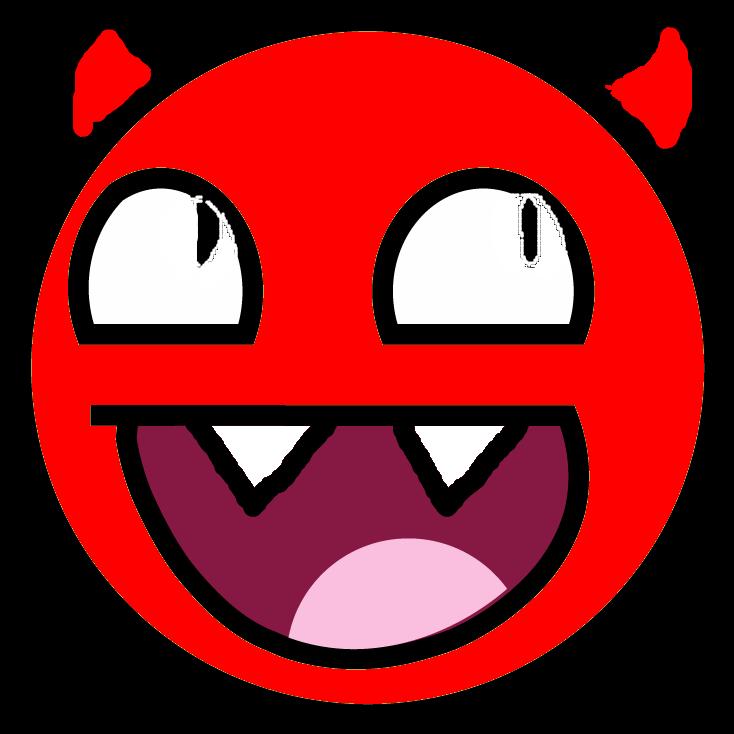 Emoji clipart demon. Devil smiley faces group