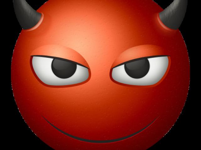 Evil smile cliparts free. Emoji clipart demon