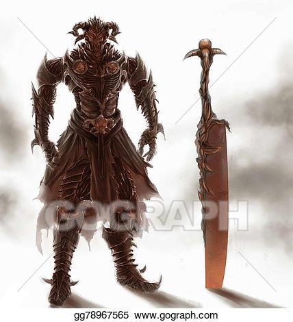 Knight clipart evil knight. Clip art stock illustration