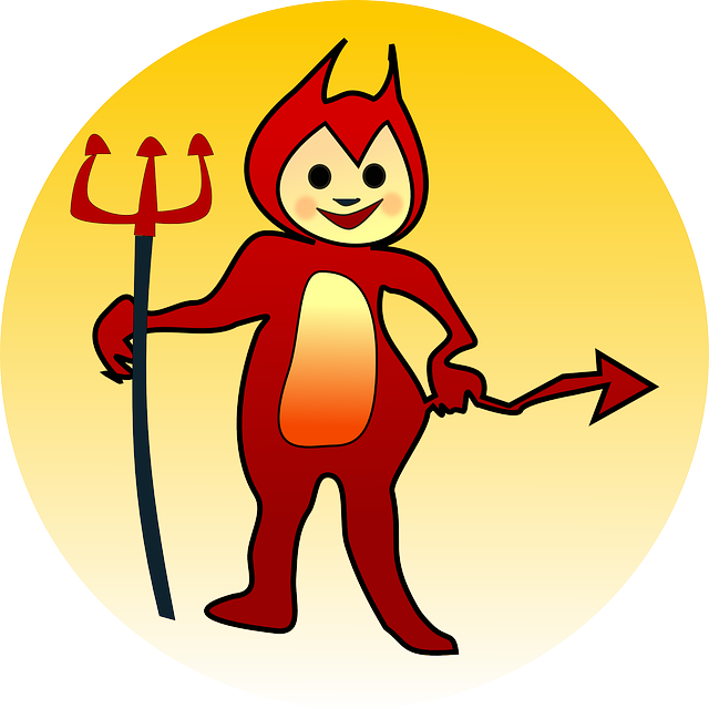 Horn clipart real devil.  crazy things i