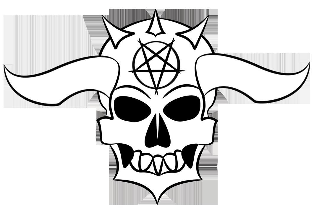 Horn clipart demon horn. Skull drawing at getdrawings