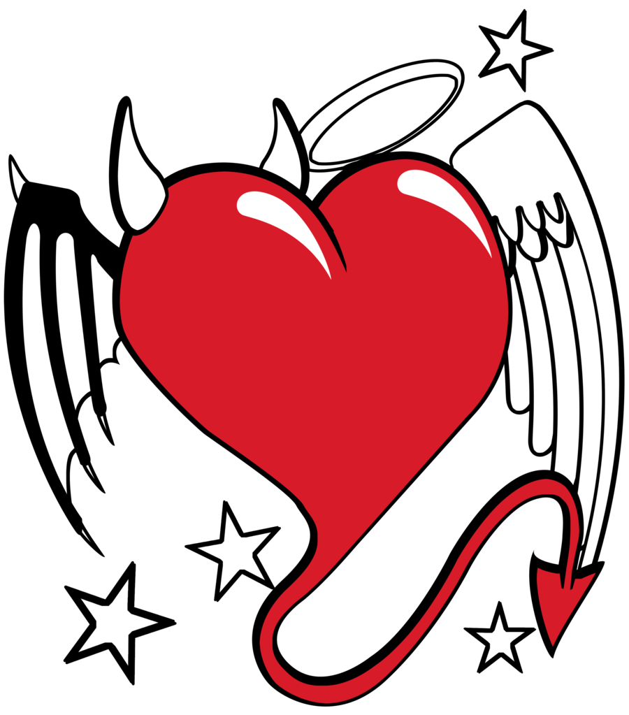 Devil heart at getdrawings. Faith clipart love drawing
