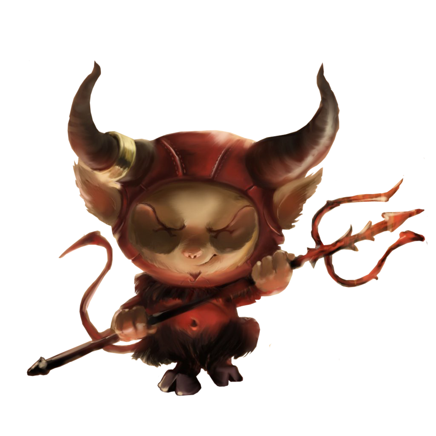 Demon clipart satanic. Teemo satan render by