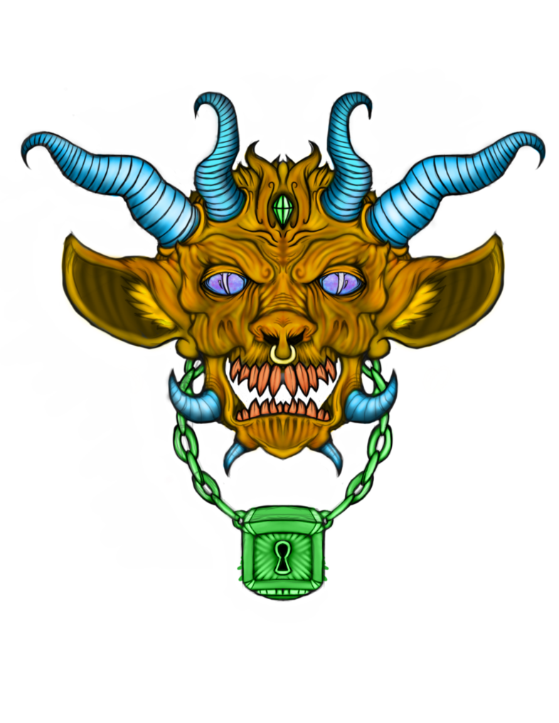 Demon clipart supernatural symbol. Face by insainart on